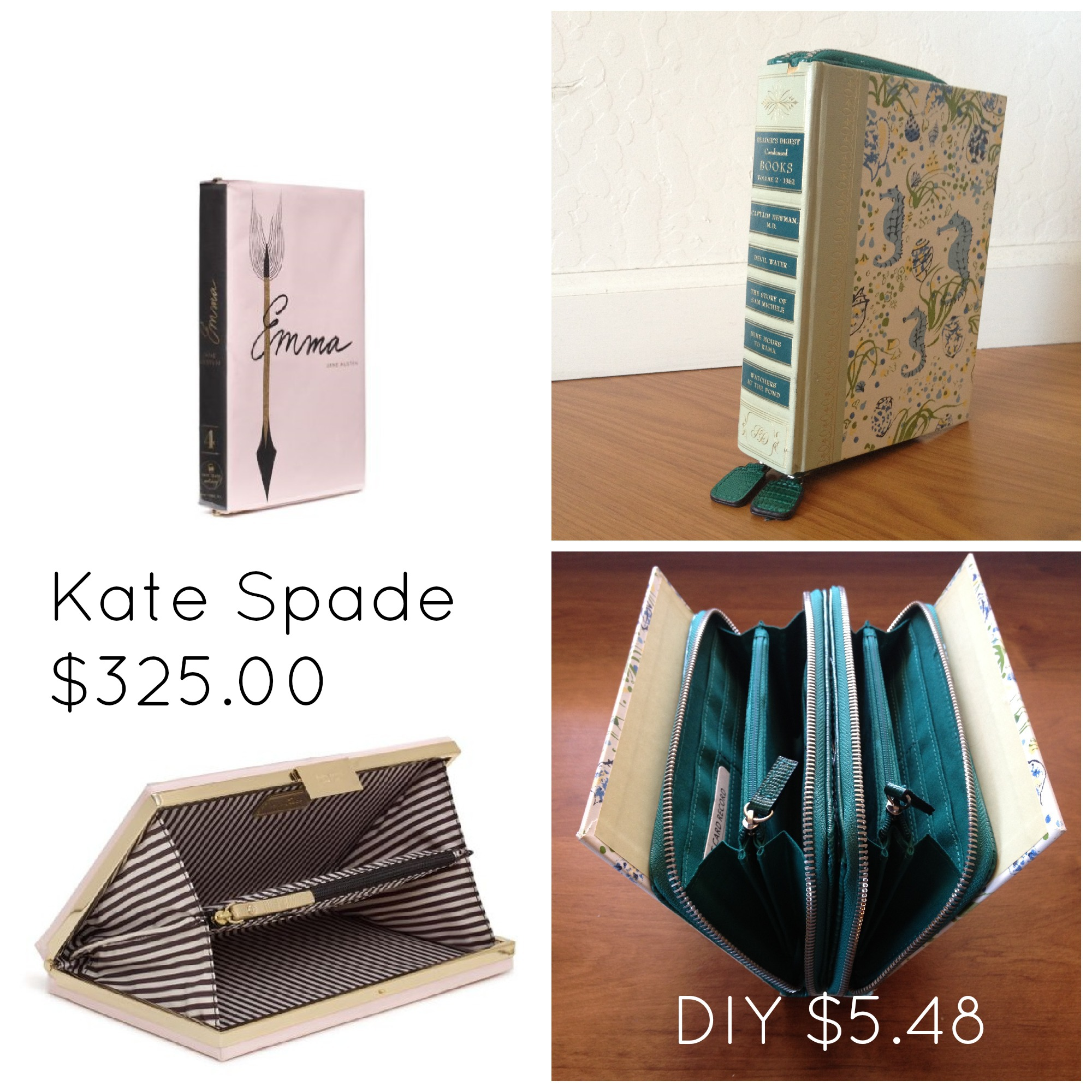 Diy Book Cover Clutch : Diy kate spade book clutch for scribbles from emily